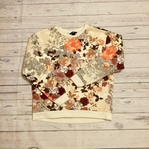 H&M quilted antique floral sweatshirt